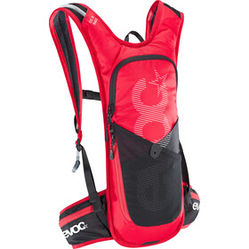 EVOC CC Race Lite Performance Rucksack 3l + 2l Bladder red/black